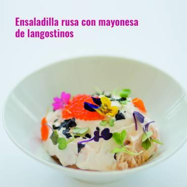 Ensaladilla Rusa con Mayonesa de Langostinos
